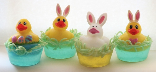 Bunny Duckies in Baskets - Make your own soap