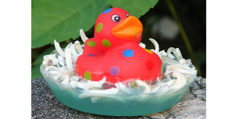 floating rubber duckie soap