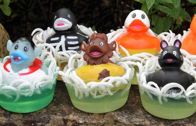 witch rubber duckie soap
