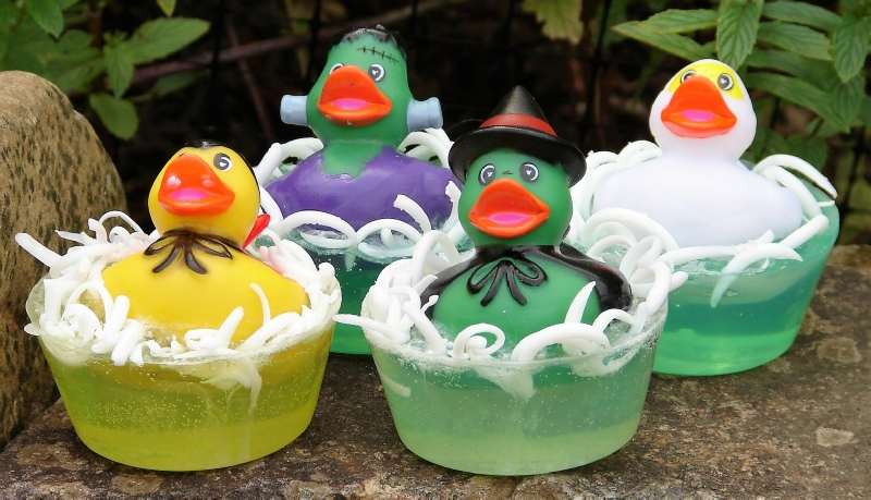 Halloween Monster Rubber Duckies - Create Your Own Soap Workshop