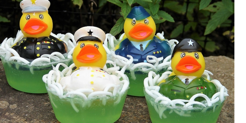 military rubber duckie soaps